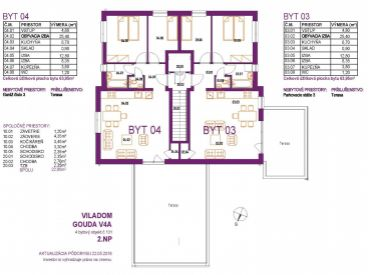 Novostavba 3 izbový byt 64m2, garáž a terasa 29m2, Biely Kostol
