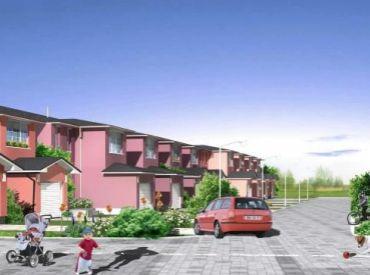 Nový projekt v obci Slovenský Grob. Novostavba 4-izbového domu s garážou a pozemkom až 248m2 za 135000,-