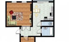 2 izbový byt s loggiou, Prešov
