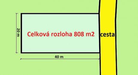 Na predaj stavebný pozemok, 808 m2, Trenčianska Turná, okr. Trenčín