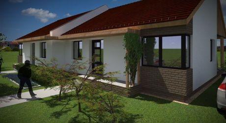 4 - izbový tehlový rodinný dom /jedna bytová jednotka dvojdomu/
