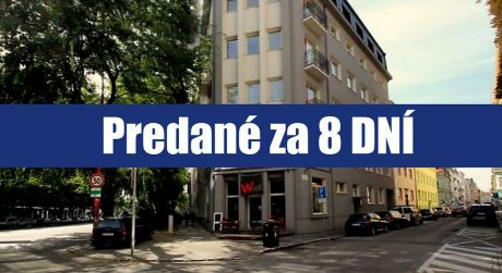 PREDANÉ ZA 8 DNÍ: Hľadáte 1 izbový alebo 2 izbový byt v Bratislave - Starom Meste? Môžete mať oboje - na Karadžičovej ulici. A to okamžite...
