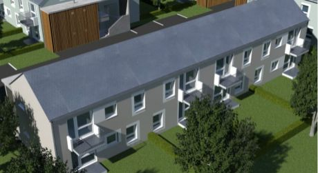 2 a pol  izbový byt v novostavbe Rajka 58 m2 a záhardkou a terasou