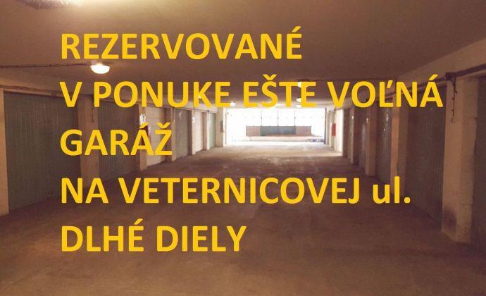 PREDAJ Garáž samostatná, Ľudovíta Fullu ul, BA IV, Dlhé Diely