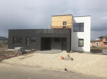 Moderný projekt - Dvojdom  98,5m2s pozemkom 420m2 neďaleko Bratislavy v obci Miloslavov za 125900,-!!!R7,REGOJET, 7km do BA!!!