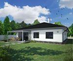 Novostavba tehlového bungalovu s garážou, 4+1, 657 m2, holodom, terasa, oplotenie, Trenčianska Turná / Zajarčie