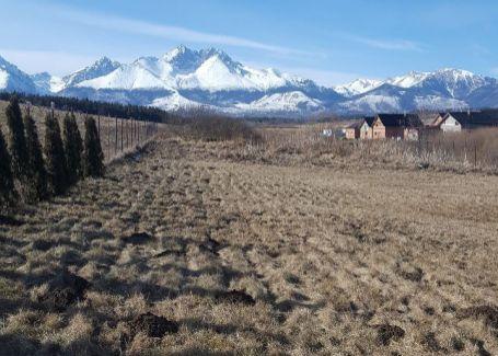 DELTA - Pekný slnečný pozemok Malý Slavkov s výhľadom na Vysoké Tatry