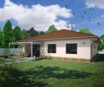 Novostavba tehlového bungalovu s garážou, 4+1, 653 m2, holodom, terasa, oplotenie, Trenčianska Turná / Zajarčie
