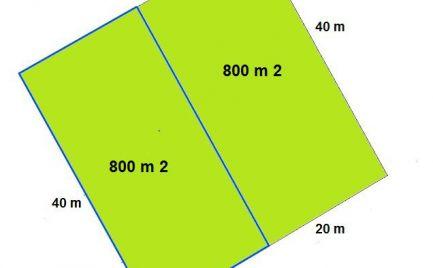 Predaj pekného, rovinatého  pozemku 800 m2 , šírka 20 m, Veľký Lapáš