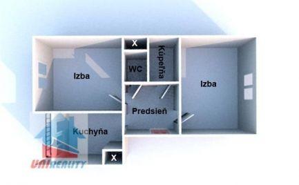 BÁNOVCE NAD BEBRAVOU- 2 izbový byt / DUBNIČKA / čiastočná rekonštrukcia
