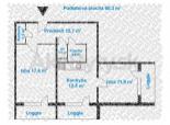 Predaj 2 izb. bytu na Heyrovského po čiast. rekonštrukcii s tromi loggiami.