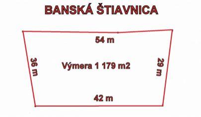 BANSKÁ ŠTIAVNICA - pozemok pre priemyselnú výstavbu 1179m2