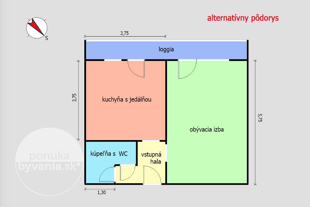 ponukabyvania.sk_Československých parašutistov_2-izbový-byt_HANUSKA
