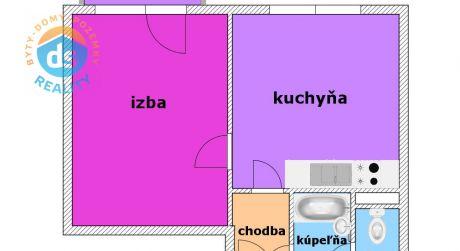 Na predaj 1 izbový byt s balkónom, 35 m2, Trenčianska Teplá