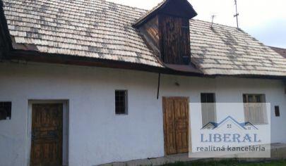 Na predaj starší rodinný dom v pôvodnom stave vo Zvolene, v mestskej časti Môťová