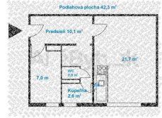 1,5 izbový byt, Ostredky, komplet. rekonštrukcia