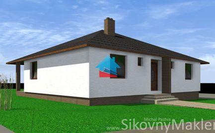 PRUSY - novostavba bungalow / 4 izby / pozemok 700 m2 / tichá lokalita