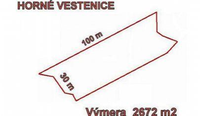 HORNÉ VESTENICE  stavebný pozemok 2672m2, okr. Prievidza