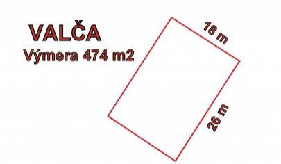 VALČA stavebný pozemok výmera 474 m2.