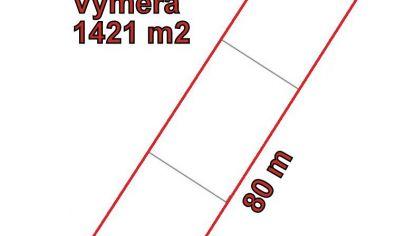 VALČA stavebný pozemok 1421 m2, okr. Martin