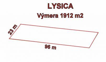 LYSICA  pozemok výmera 1912m2, okr. Žilina