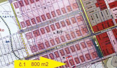 Výhodna ponuka LUŽIANKY /1 stavebný pozemok 800 m2, okr. NITRA