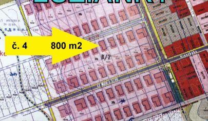 LUŽIANKY výmera  800 m2, pozemok/4 okr. NITRA