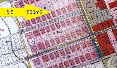 LUŽIANKY /5 pozemok s výmerou 800 m2, pozemok okr. NITRA
