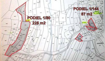 ZÁZRIVÁ -  Biela, rekreačné pozemky - výmera 312 m2, okr. Dolný Kubín