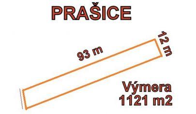 PRAŠICE - stavebný pozemok 1121m2, okr. Topoľčany