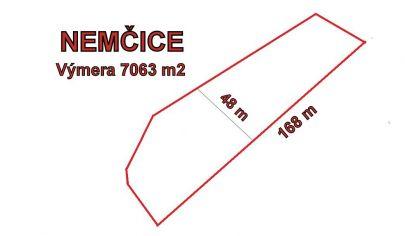 NEMČICE stavebný pozemok výmera 7063 m2, okr. Topoľčany