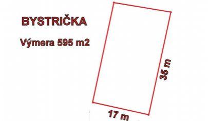 BYSTRIČKA stavebný pozemok 595m2 so všetkými IS, okr. Martin