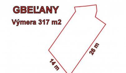 GBEĽANY stavebný pozemok 745m2, okr. Žilina