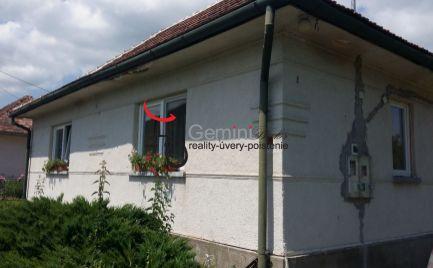 GEMINIBROKER Vám ponúka na predaj zariadený rodinný dom v obci Bózsva