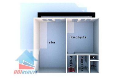BÁNOVCE nad BEBRAVOU – 1 – izb. byt / blízko centra / 35 m2 / BALKÓN