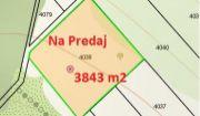 Na predaj rekreačný pozemok 3843 m2, Horné Srnie.