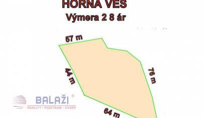 HORNÁ VES pozemok TTP 2847 m2