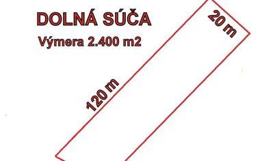 DOLNÁ SÚČA rekreačný pozemok výmera 2400 m2, okr. Trenčín