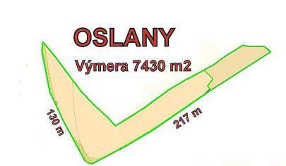 OSLANY  stavebný pozemok, výmera 6215 m2,okr. Prievidza
