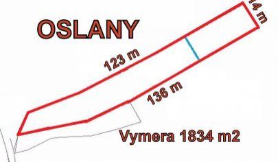 OSLANY  stavebný pozemok, výmera 1834m2, okr. Prievidza