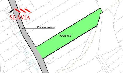 Stavebný pozemok 7908 m2, Zlatníky, okres Bánovce nad Bebravou