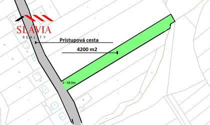 Stavebný pozemok 4200 m2, Zlatníky, okres Bánovce nad Bebravou
