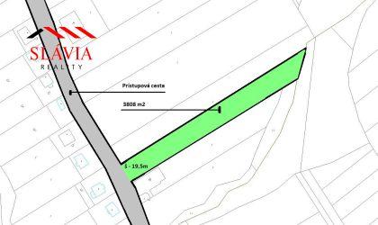 Stavebný pozemok 3808 m2, Zlatníky, okres Bánovce nad Bebravou