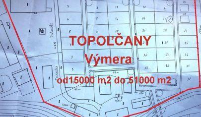 TOVARNIKY - stav. pozemky s výmerou od 15.000 m2 do 51.000 m2, okr. Topoľčany