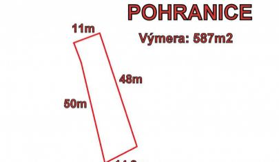 POHRANICE- stavebný pozemok 587m2, okr. Nitra