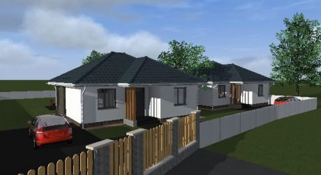 4 - izbový rodinný dom 92 m2 obytná plocha, 635m2 pozemok
