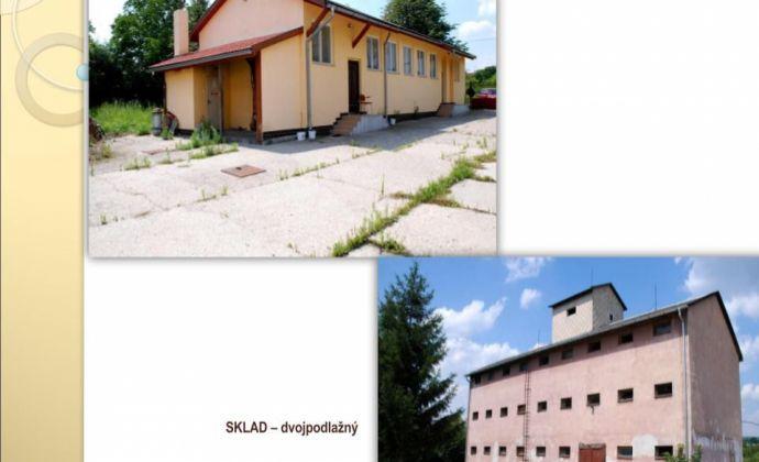 predám výrobno-skladovací areál s pozemkom 1,8 ha v intraviláne v obci Jelenec