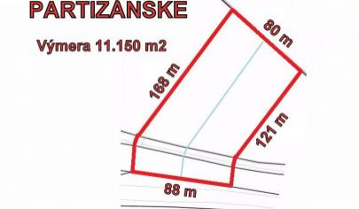 PARTIZÁNSKE LUKRATÍVNY- rozloha 11150 m2, okr.Partizánske